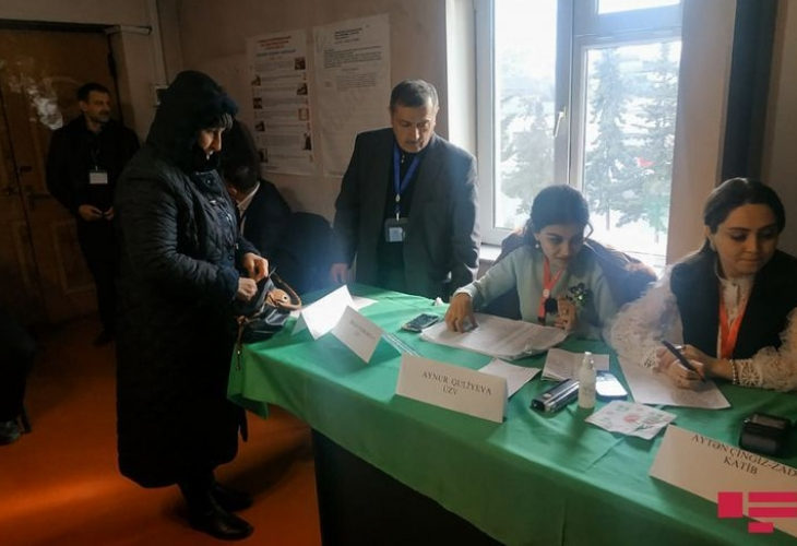 Khankendi residents cast their votes in parliamentary election